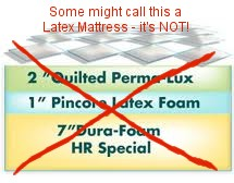 not a latex mattress
