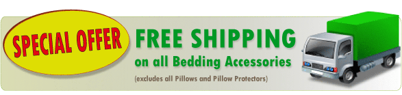 FREE Shipping on all Bedding Accessories