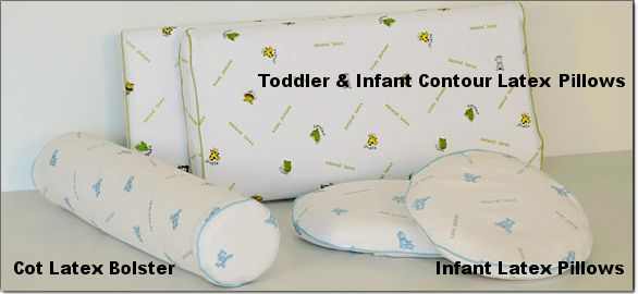 Zentai's Collection of natural Latex Toddler & Infant Pillows